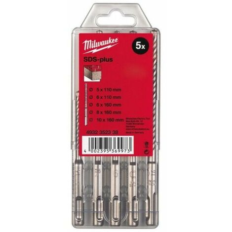 Coffret forets M2 SDSPlus Milwaukee Set 5 pcs