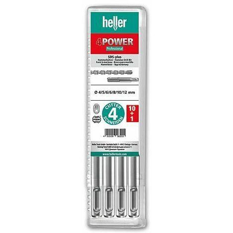 Coffret forets marteau-perforateur heller® 1418 4POWER, SDS-plus