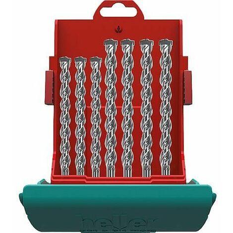 Coffret forets marteau-perforateur heller® 2018 BIONIC PRO, SDS-plus, 7 pièces