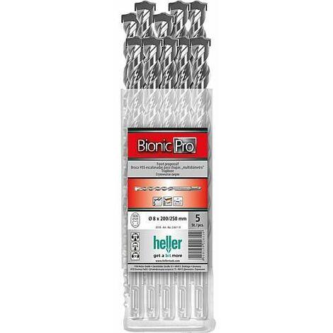 Coffret forets marteau-perforateur heller® 2018 BIONIC PRO, SDS-plus, emballage 10 pièces