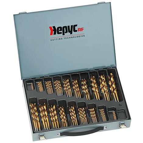 Coffret forets métal HSSTIN DIN338 D. 1 à 10 x 0,5 mm - 125 pièces