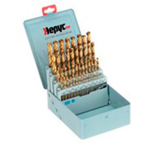 Coffret forets métal HSSTIN DIN338 D. 1 à 13 x 0,25 mm - 49 pièces
