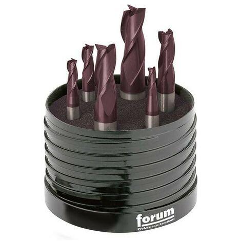 Coffret Fraise Cylindrique TiAlN jeu 4-12mm HB Z 3 FORUM