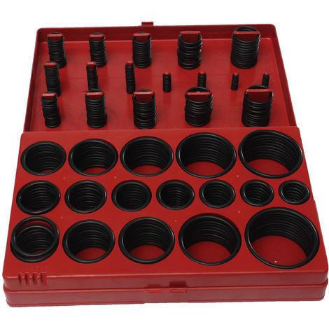 Coffret Joints Toriques Métriques 419Pcs 32 Tailles Caoutchouc O Bague étanchéité Outil à Plomperie Garage Atelier
