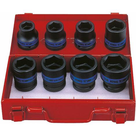 COFFRET KING TONY 3/4 DOUILLES A CHOC CLES IMPACT 6 PANS METRIQUES