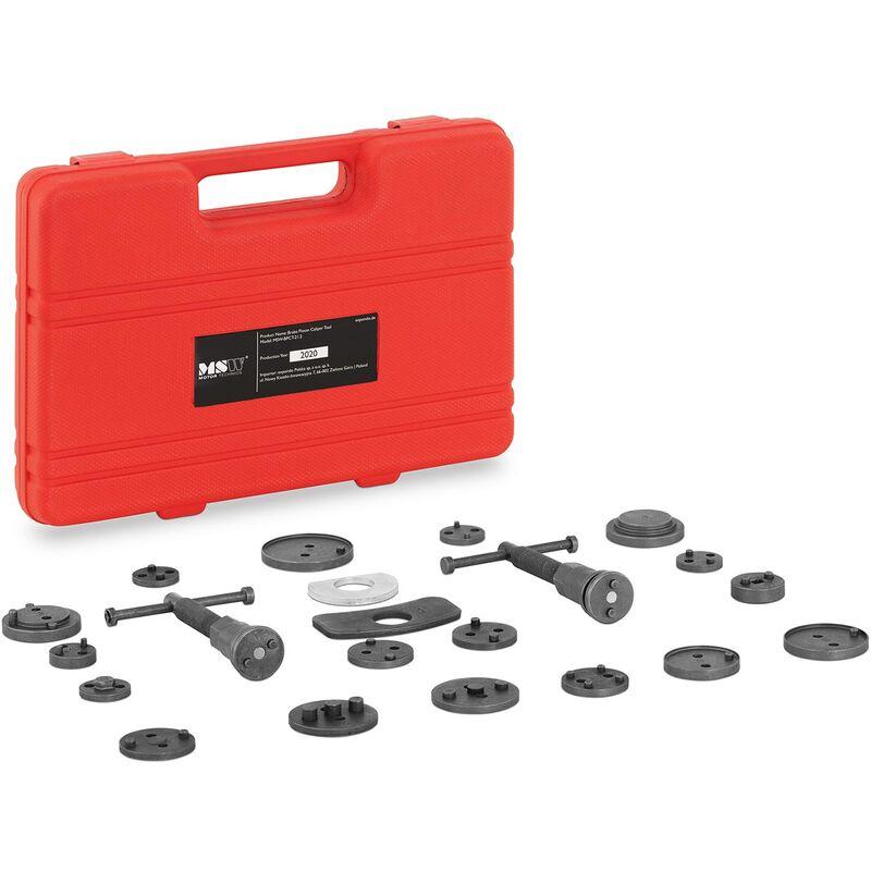 MSW - Coffret Kit Repousse Piston Étrier de Frein Set Outils Auto Voiture 21 Pièces