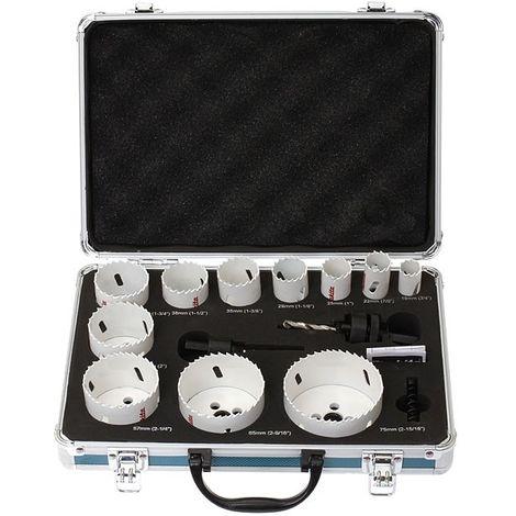 Coffret MAKITA de 11 scies cloches - Avec adaptateur et ressort - D-50572