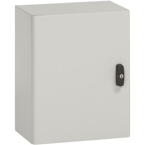 Coffret métal Atlantic - matériaux coffret 2 portes Un seul point de condamnation