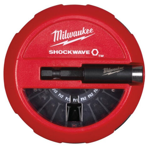 COFFRET MILWAUKEE 14 EMBOUTS PUCK SHOCKWAVE IMPACT DUTY CD PUCK SET 4932430904 - -