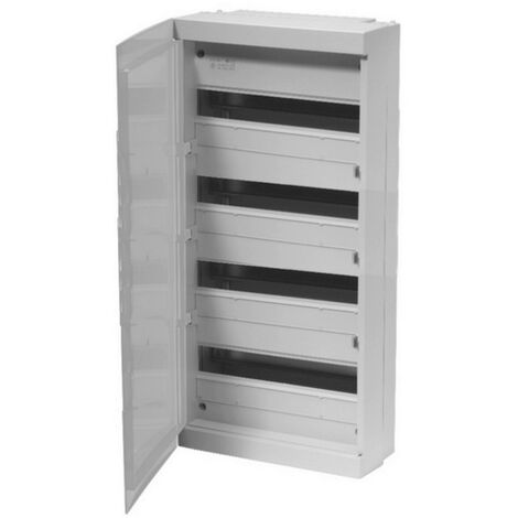 Coffret modulaire 72 modules 4 rangées avec porte opaque