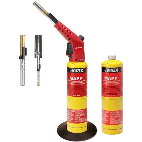 Coffret multifonctions chalumeau de plombier gaz MAPP® Pro 3 lances VIRAX - 521741