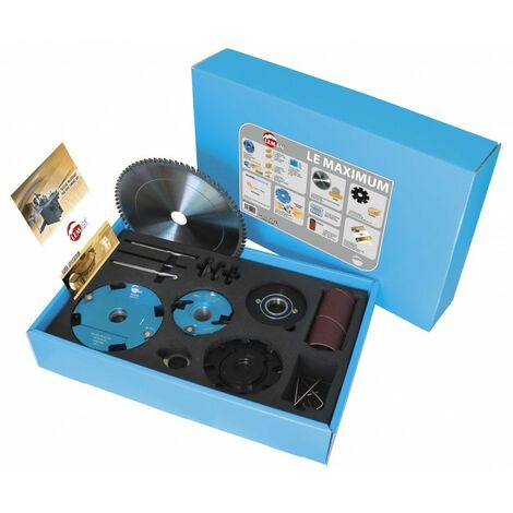 Coffret outillage toupie le MAXIMUM + lame debit + reglet