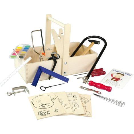 Coffret outils menuiserie enfant