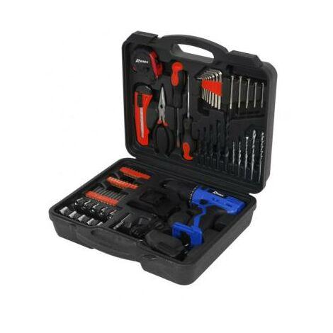 Coffret perceuse visseuse sur batterie avec embouts - forets et outils