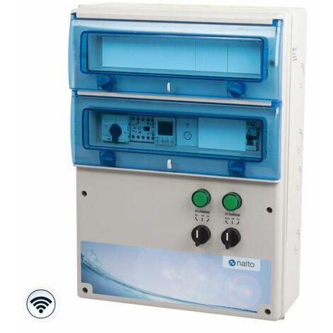 Coffret Piscine Connecté pour Filtration + Éclairage 100W - Module Wifi Inclus pour Commande Filtration