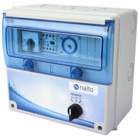 Coffret piscine pour pompe de filtration avec holorge mécanique