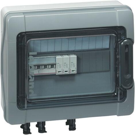 Coffret Plexo3 photovoltaïque IP65 pré équipée et pré câblé 3kWc DC pour 1 ou 2 chaînes 1 rangée de 12 modules (414003)