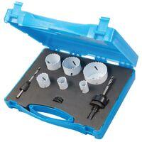 Coffret plombier scies-cloches bi-métal 9 pcs - 19 - 57 mm