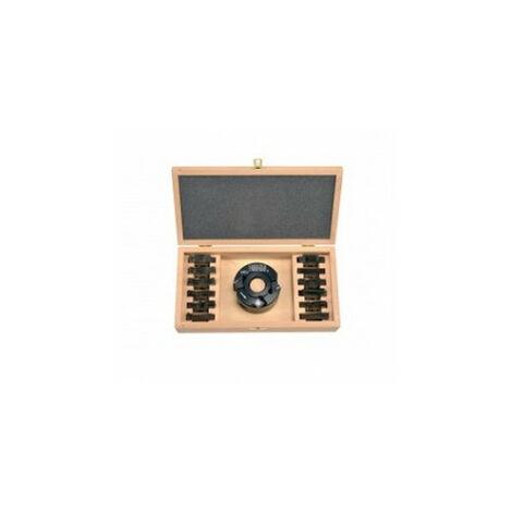 Coffret P.O. 90x50 pour toupie arbre 30mm + 7 jeux de fers