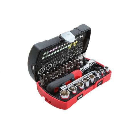 Coffret Pocket serrage-vissage 40 outils 1/4 SAM OUTILLAGE - 73-R40Z