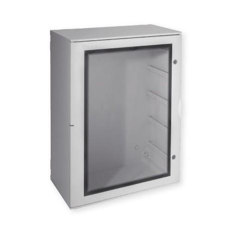 Coffret polyester non équipé gris 1060x810x355mm porte hublot étanche IP66 PEDRO PH07 IBOCO B04727