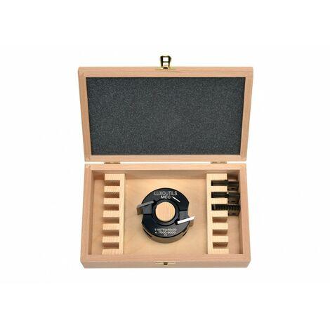 Coffret porte outils 40 mm + 4 jeux de fers toupie arbre 30 mm