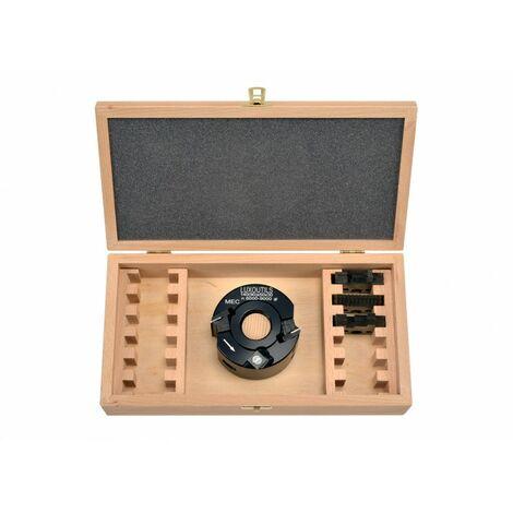 coffret porte outils 90 mm alesage 30 mm + 4 jeux de fers
