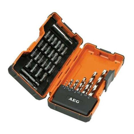 Coffret power set 35 pièces AEG embouts et forêts HSS-G 4932352249