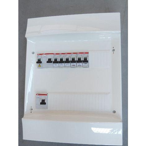 Coffret pré-équipé 2R 24 modules avec 2 Inter diff 40A 30mA + 7 disjoncteurs pour studio IP20 IRM165531 ABB 1SLM004170A3005