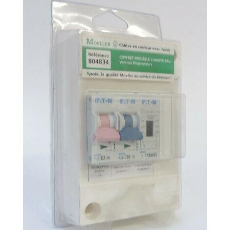 Coffret pré-équipé avec 2 disj C2+C20 + 1 contacteur J/N pour protection chauffe-eau MOELLER EATON (MGE) 77804834