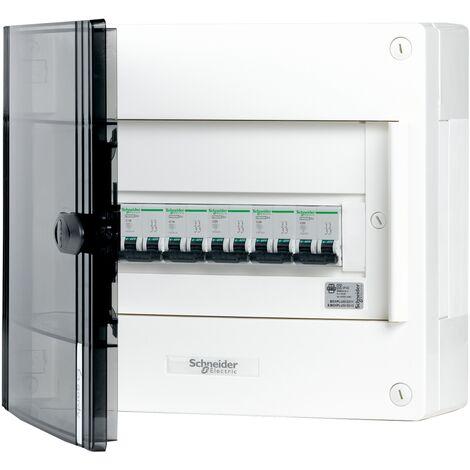 Coffret précâblé Schneider - 12 modules Gris