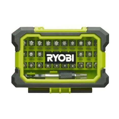 """main image of """"Coffret renforcé RYOBI 32 embouts de vissage Torx T7-T40 - porte-embouts à fixation rapide RAK32TSD"""""""