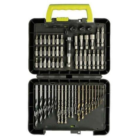 Coffret RYOBI 60 accessoires - perçage et vissage RAK60DDF