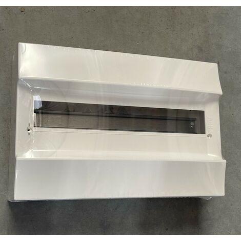Coffret saillie blanc 1X18 modules plastique blanc 387X262X119mm 750° sans porte IP41 MISTRAL 41W ABB F712418