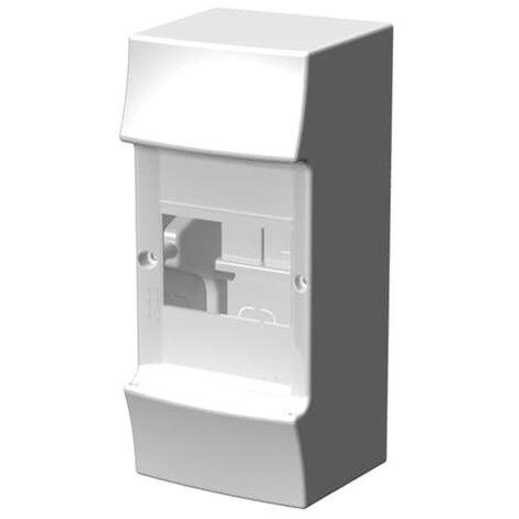 Coffret saillie blanc 1X4 modules plastique blanc 100X223X96mm 650° sans porte IP41 MISTRAL 41W ABB F712018