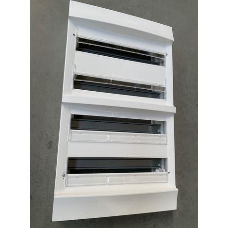 Coffret saillie blanc 4X18 modules plastique blanc 387X659X118mm 960° sans porte entraxe 125mm IP20 MISTRAL 30W ABB L619647