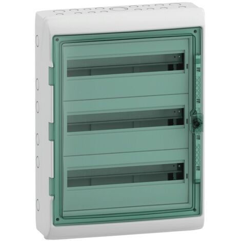 Coffret Schneider 54 modules IP65 Porte transparente 10345