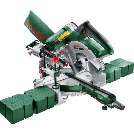 Coffret scie à onglets radiale à double inclinaison PCM 8 SD Bosch - Livrée avec support pince, clé pour changement de lame de scie, sac à poussière et 4 rallonges latérales
