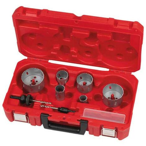 Coffret scie cloches MILWAUKEE - 10 pièces 4932464719 - Gris charbon