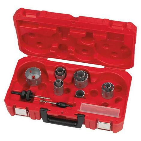 Coffret scie cloches MILWAUKEE - 14 pièces 4932464720 - Gris charbon