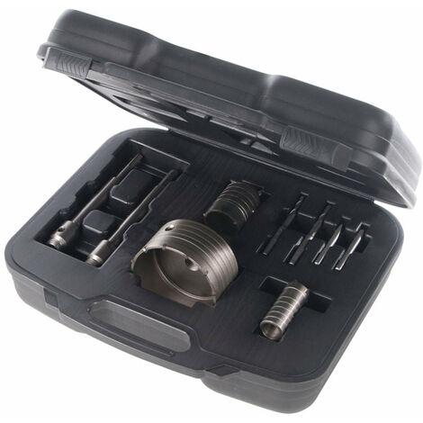 Coffret Scie trépan Carbure de tungstène Cloche 30 50 et 110 mm SDS+ Foret Béton outils atelier bricolage - Or