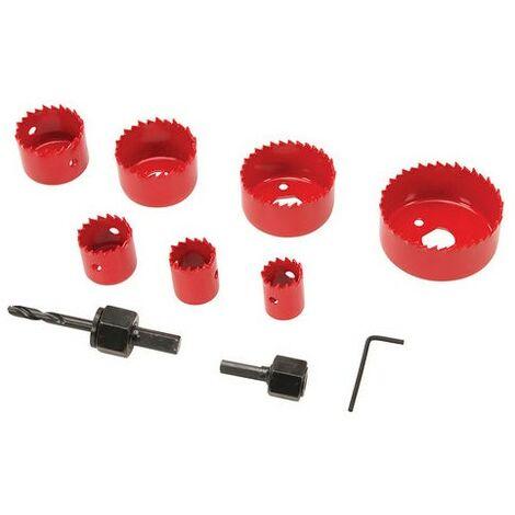 Coffret scies-cloches 11 pcs - 21 - 64 mm