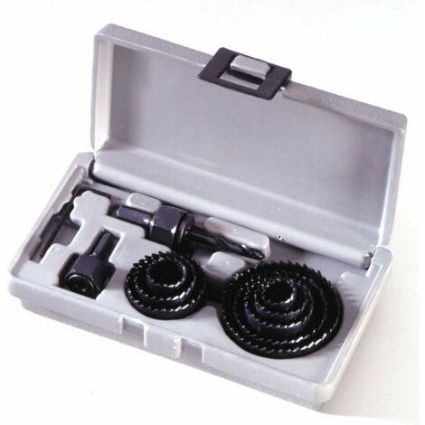 Coffret scies cloches 11 Pièces de 19 à 64 mm Bois Platre Placo Plastique Plâtre outils atelier bricolage - Bois
