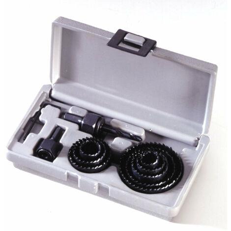 Coffret scies cloches 12 Pièces de 19 à 64 mm Bois Placo Plastique Plâtre outils atelier bricolage - Bois