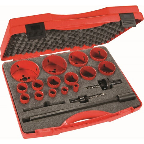 Coffret scies trepans 15 diametres SAM - 705C15