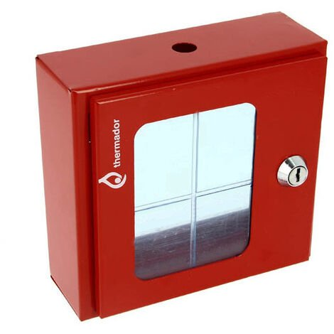 Coffret sous verre dormant pour vanne police - 165x155x60 - Sans accessoires - Thermador