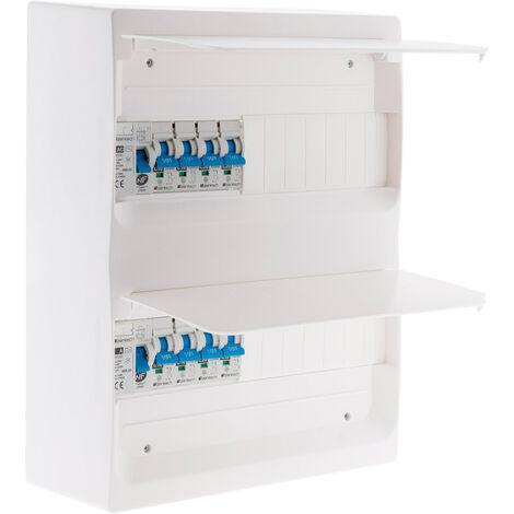 Coffret T1/T2 26 modules Blanc équpé de 8 disjoncteurs et 2 inter. diff. livré avec accessoires - Zenitech