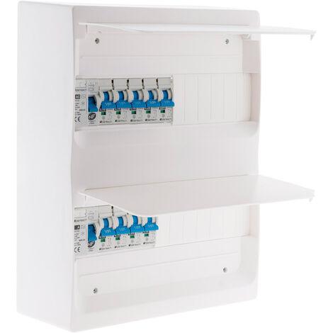 Coffret T3 26 modules Blanc équipé de 9 disjoncteurs et 2 inter. diff. livré avec accessoires - Zenitech