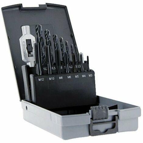 Coffret taraud et filiere 7 tarauds et 7 forets 2 5 à 10 2 mm