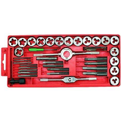 Coffret tarauds et filières 40Pcs Outils à tarauder fileter filetage 3 à 12 mm outils atelier bricolage